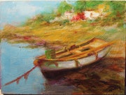 Thumbnail: Landscape with boat.