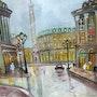 Place Vendome copie d un tableau de Maurice Legendre. Luc Terrail