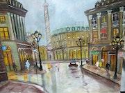 Place Vendome Kopie eines Gemäldes von Maurice Legendre. Luc Terrail