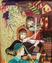 Los violinistas del pasado.