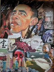 En medio de Obama. Marief