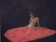 Red nude Kleid. Erick Kunze