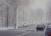 Snow on the Avenue de Villiers.