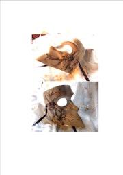 Venecia máscara de papel maché Bauta decoradas por mí.