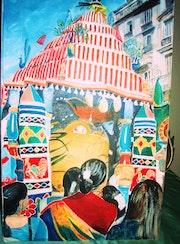 Procession Ganesha.