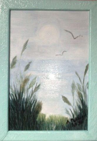 See in der Morgendämmerung. Annie Mekhazni