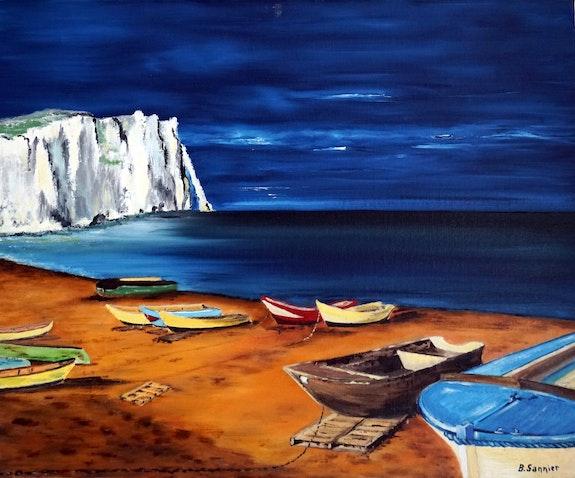 Sur les plages d'Etretat. B. Sannier Bernard Sannier