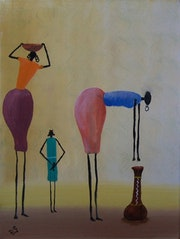 Arte africano: ir a buscar agua.