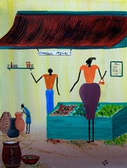 African art: buying food.