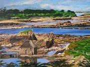Moulin à marée sur l'île de Bréhat.