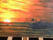 Coucher de soleil polynésien. Marie
