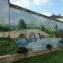 Trompe l'oeil ... Paisajes y Jardines de las paredes exteriores. Noèla Morisot
