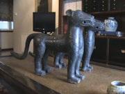 Leopardos Bronce del Siglo XIX Reino <benin. Oscar Luis