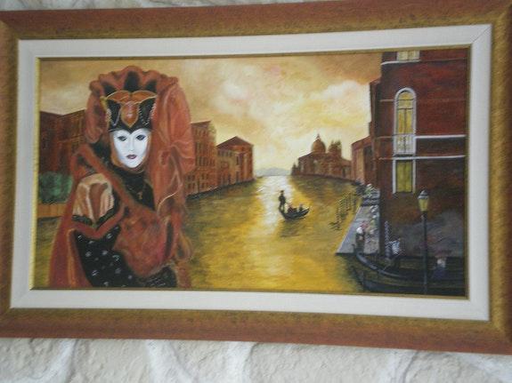 Carnaval de Venecia (en el Gran Canal. Scarline Christian Christian Scarline