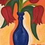 Tulipes rouges - peinture originale - Jacqueline_Ditt. Universal Arts Galerie Studio Gmbh