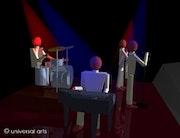 The Band 2 - limitierte Original Grafik - Mario Strack -. Universal Arts Galerie Studio Gmbh