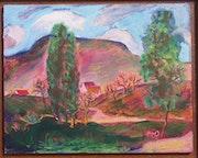 Landschaft auf der Schwäbischen Alb von Margret Hofheinz-Döring. Hofheinz-Döring Margret