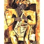Sax - Miniposter after a painting by Jacqueline_Ditt. Universal Arts Galerie Studio Gmbh