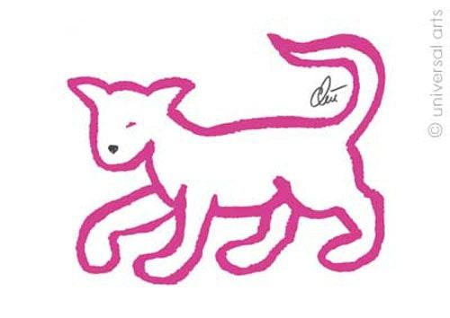 Pink Cat - original limitée graphique - Jacqueline_Ditt. Jacqueline Ditt Universal Arts Galerie Studio Gmbh