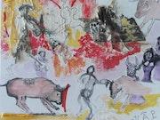 The bullfight. Catherine Lager