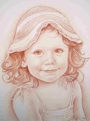 The little girl hat wool.