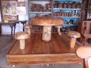 Mushroom dining set. Chettinad Studios