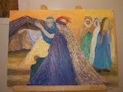 Danseuses de ouled nail (sud algerien). Zohra Ferahi