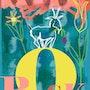 Le renard au poulailler - limitée graphique originale - Jacqueline_Ditt. Universal Arts Galerie Studio Gmbh