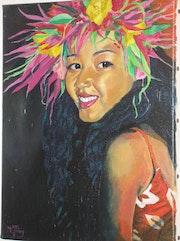 Portrait de femme polynésienne. Marie