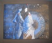 Geisha en la lluvia. Erick Kunze