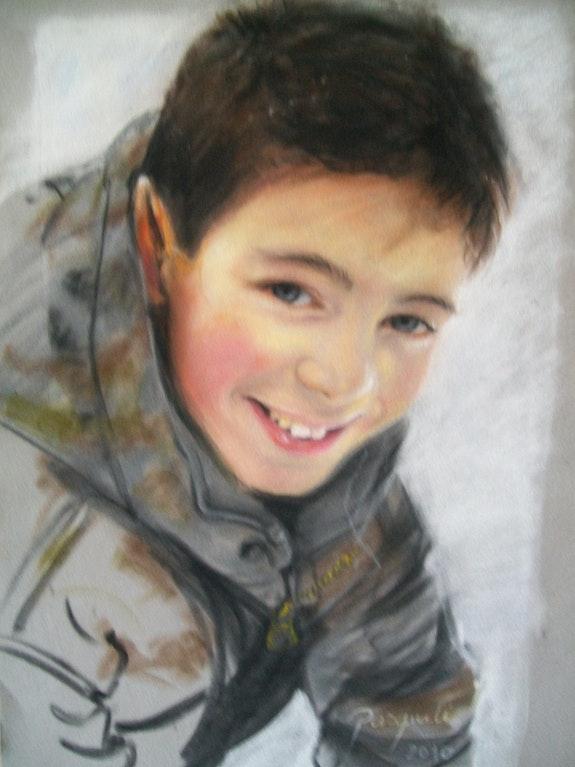 Mein Sohn auf Samt Papier. Sylvia Pasquali La Souris Verte