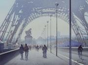 Etude pour «La Tour Eiffel et le cycliste». Thierry Duval