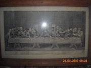 Gravure Le dernier repas du christ «La Cène» de Léonard de Vinci. M. Taghy