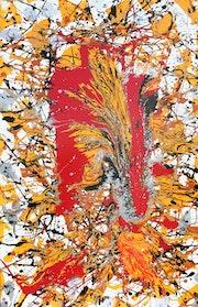 Eruption - l'action de peinture et dégoulinant. Docth