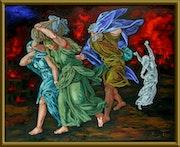 Sodom and Gomorrah - Statue of salt - the Daughters of Lot. Aron Mizrahi
