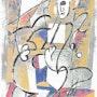 Le blueeyed violoncelle - graphique originale - exemplaire unique - Jacqueline_Ditt. Universal Arts Galerie Studio Gmbh