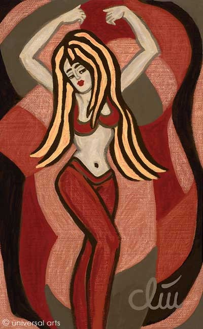 Oriental Bellydance - peinture originale - Jacqueline_Ditt. Jacqueline Ditt Universal Arts Galerie Studio Gmbh
