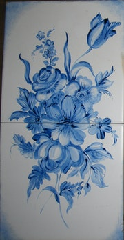 Mural hand painted tiles. Georgina Butean