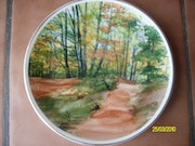 Landscape, decorative dish. Georgina Butean