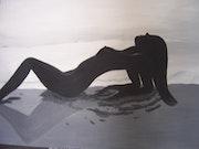 Nude Woman on a beach.
