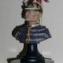 Buste d'Officier du 3ème Lanciers belges vers 1890 (Création résine 200mm). Pol-Claude Coussement