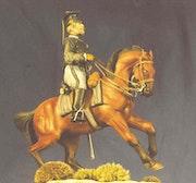 Officer 3rd Lancers Belgian horse to 1890-1913.