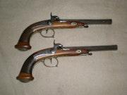 Antique dueling pistols. Gaston Bruno