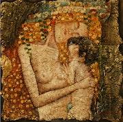 """La representación personalizada de la """"madre-hijo"""" de Klimt. Rosa Gilles"""