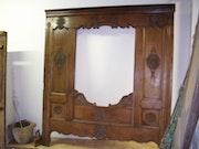 Facade de lit clos breton. Le Bergueleven