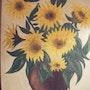 Bouquet de tournesols. Salsera