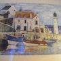 Port et phare en Bretagne. Salsera