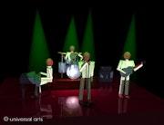The Band 3 - limitierte Original Grafik - Mario Strack. Universal Arts Galerie Studio Gmbh