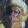 Portrait einer alten marokkanischen Hochland.. Michel Chabran