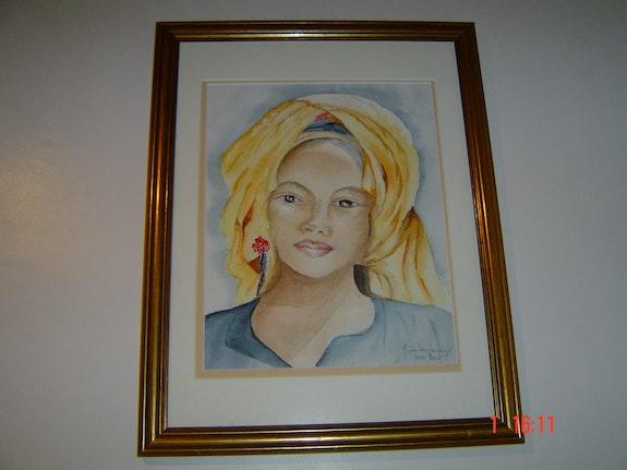 Portrait einer jungen Frau Khmer. Nicole De Lenzbourg Nicole De Lenzbourg